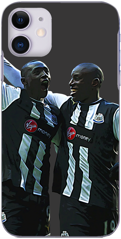 Newcastle United - Demba Ba and Papiss Cisse celebrate 2012