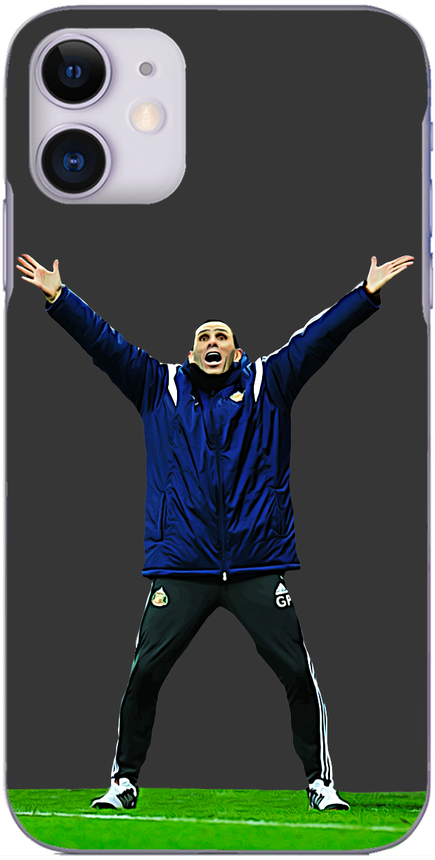Sunderland AFC - Gus Poyet celebrates the winner at St. James Park 2014