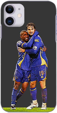 Portsmouth - Jermain Defoe and Nico Kranjcar celebrate Nico's goal against The Latics 2008