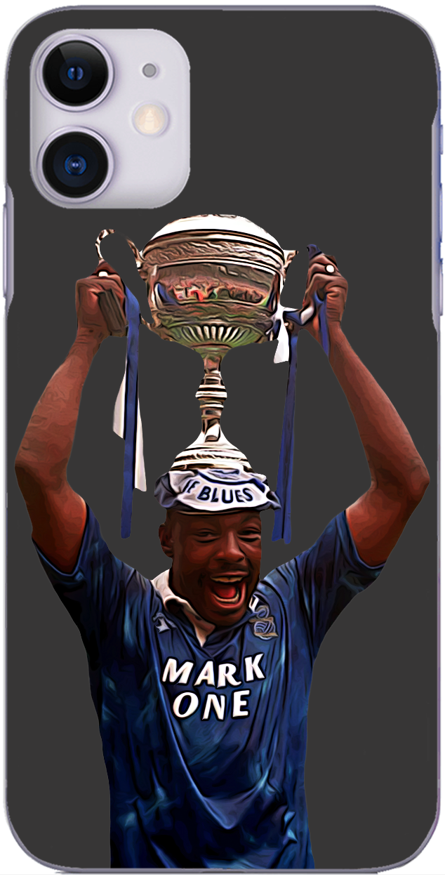 Birmingham City - John Gayle lifting the Leyland Daf Trophy 1991