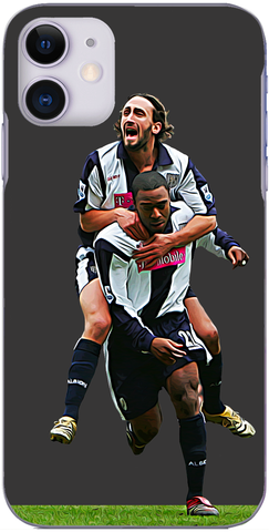 West Brom - Jonathan Greening celebrates with Nathan Ellington St. Andrews 2005
