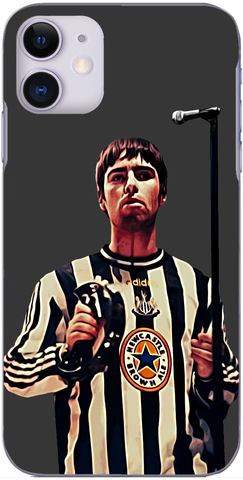 Newcastle United - Liam Gallagher wears the black and white stripes 1997