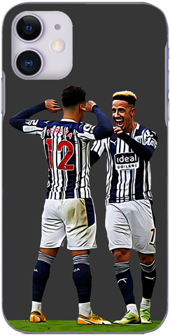 West Brom - Matheus Pereira and Callum Robinson celebrate at Molineux 2021