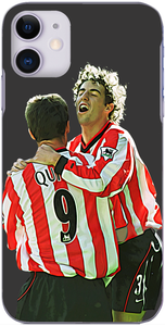 Sunderland AFC - Niall Quinn celebrates with  Julio Arco after his winner against Rovers 2001