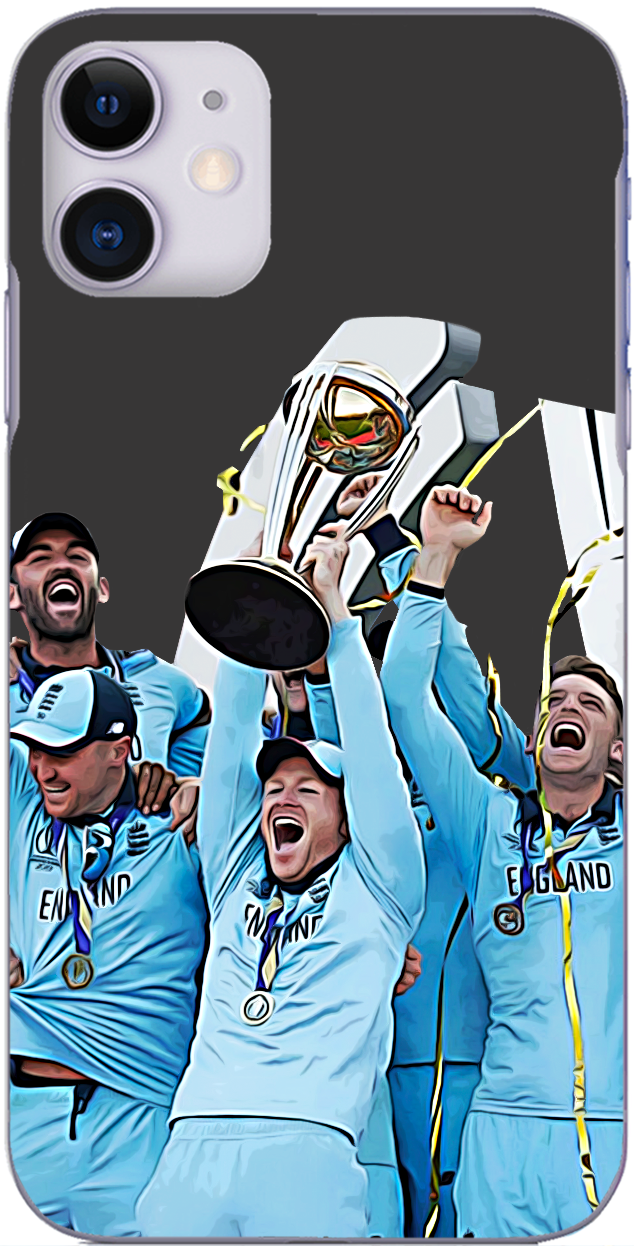 England Cricket - Eoin Morgan lifts the Cricket World Cup 2019