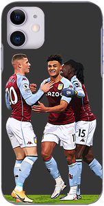 Aston Villa - Ollie Watkins celebrates with teammates after scoring at Villa Park 2021