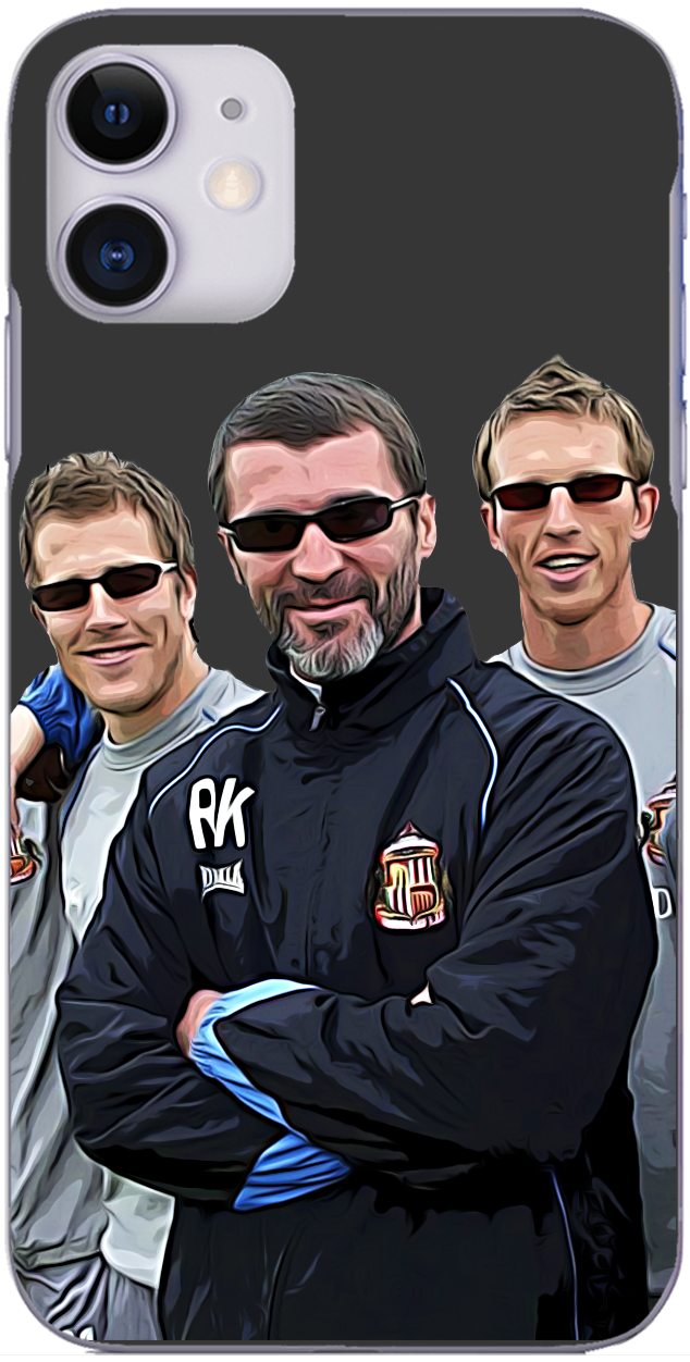 Sunderland AFC - Roy Keane with Danny Collins and Toby Hysen 2006