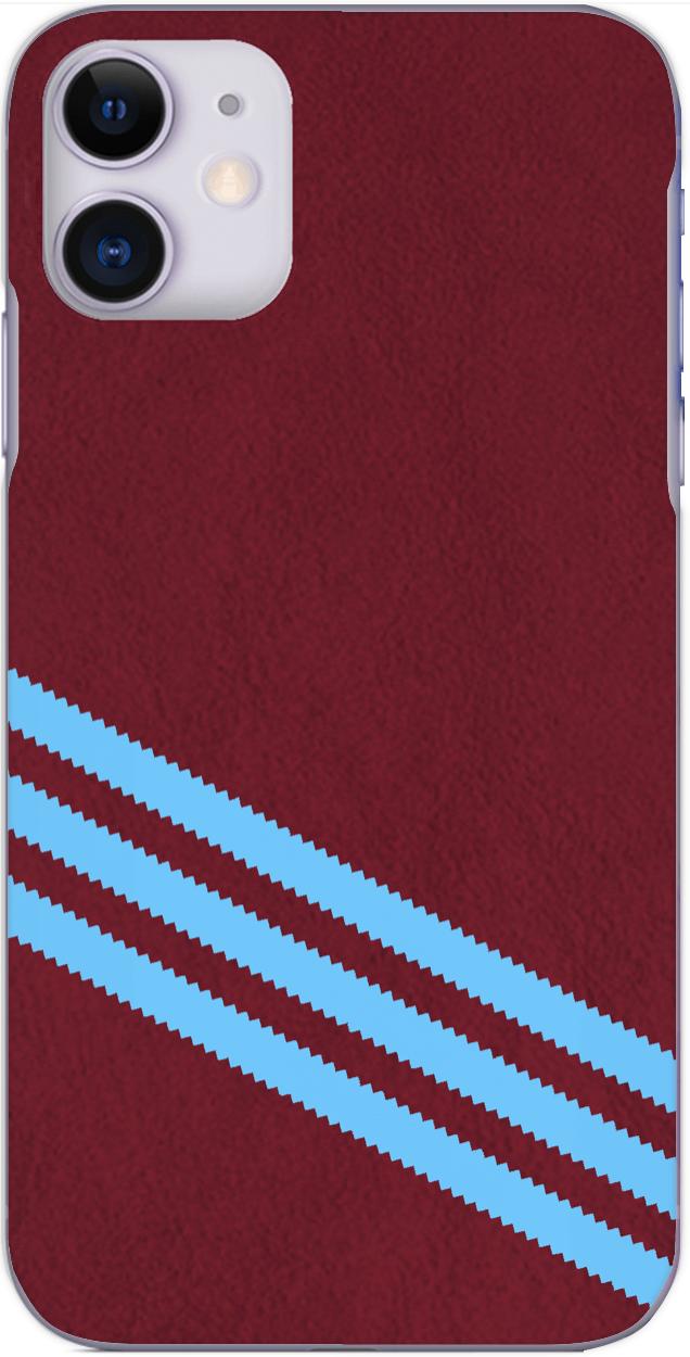 3 Stripe Collection - Claret and blue