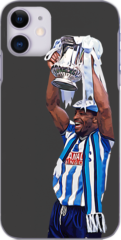 Coventry City - Cyrille Regis lifts the FA Cup in 1987