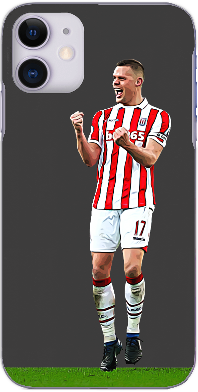 Stoke City - Ryan Shawcross celebrates the opening goal against Palace 2017