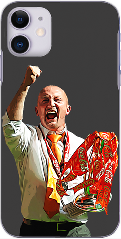 Blackpool - Ian Holloway with the Championship play off trophy 2010
