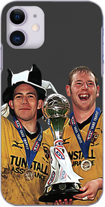 Port Vale - Marc Bridge-Wilkinson and Steve Brooker celebrate FA Trophy 2001