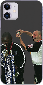 Southend United - Adam Barrett and Shaun Goater after winning League One 2006