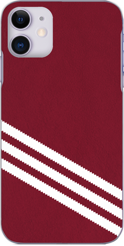 3 Stripe Collection - Dark red and white