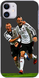 Fulham - Steve Sidwell celebrates with Dimitar Berbatov 2013