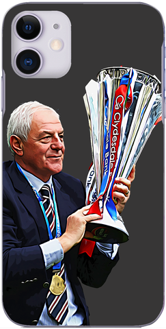 Rangers - Walter Smith with the league trophy 2011