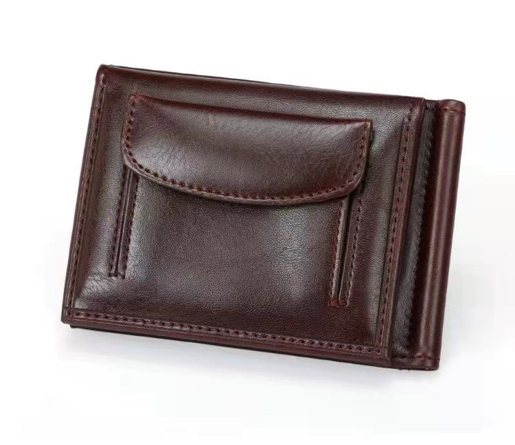 Men's PU Leather Clip Wallet