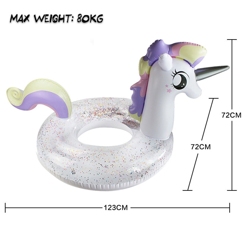 Inflatable Sparkly Unicorn Swim Ring
