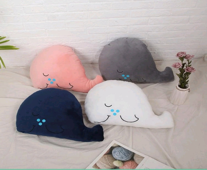 Velvet Decorative Whale Cushion