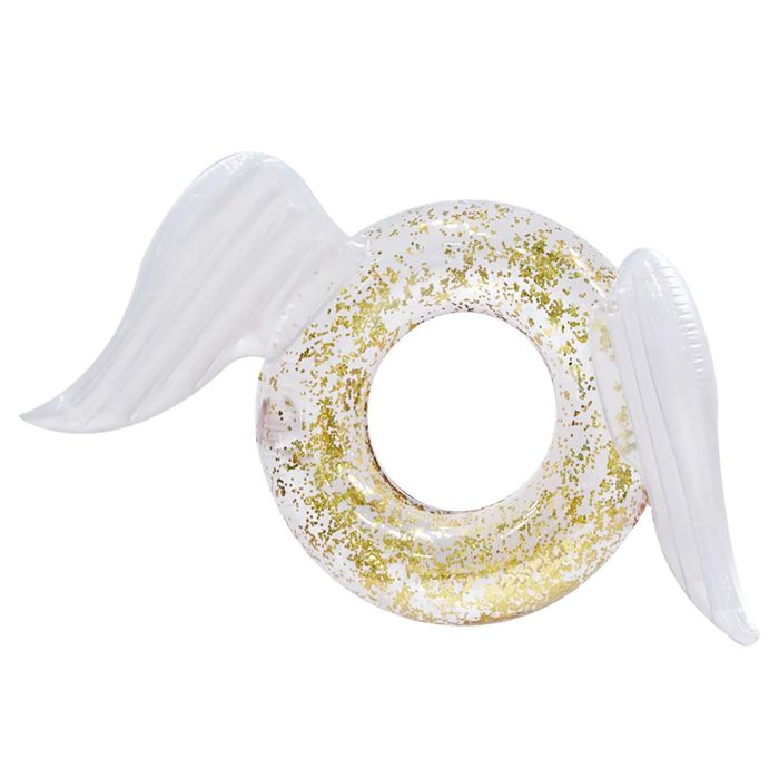 Inflatable Sparkle Wing Swimming Ring