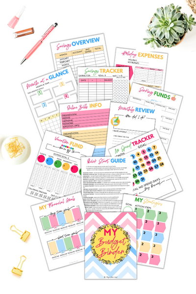 Printable Budget Binder {25+ Pages}