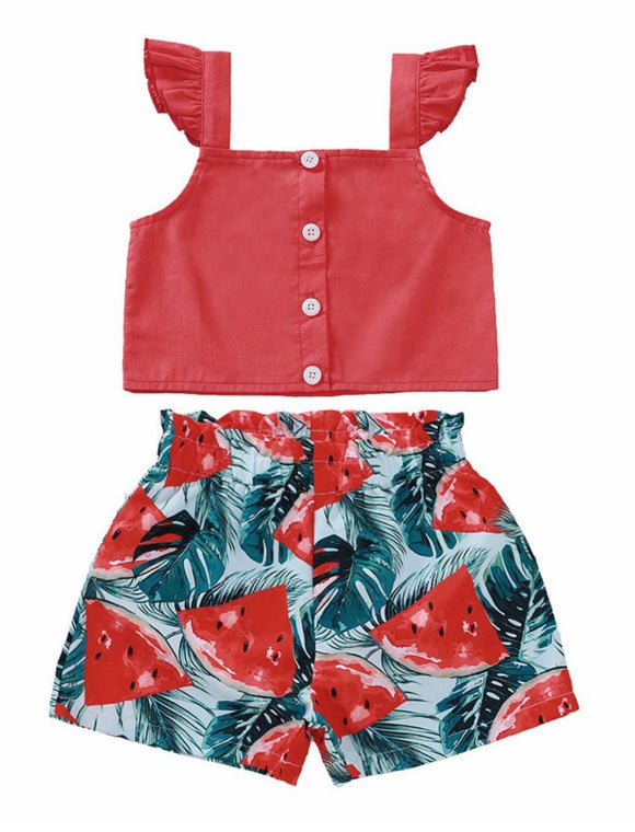 Watermelon Shorts Set
