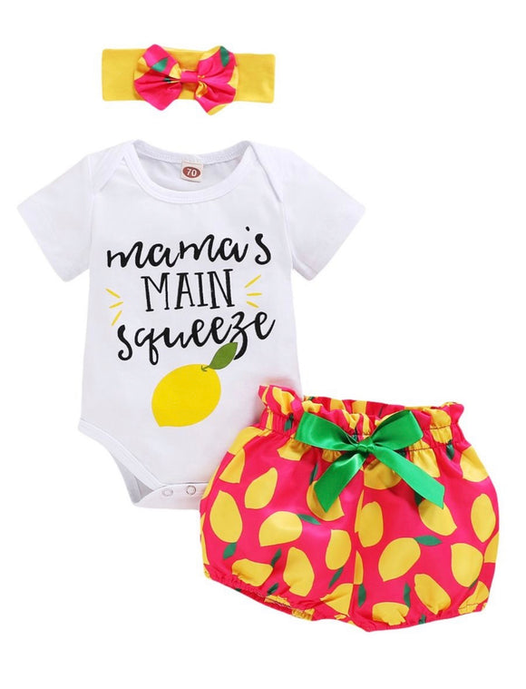 3pc Lemon Girl set