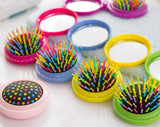 Candy Box portable pocket brush with mirror