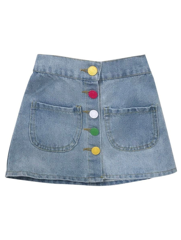 Candy Box Denim Skirt