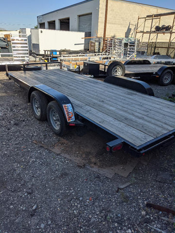 C&B Car Hauler Rental 7'x18' - Taurus Trailers