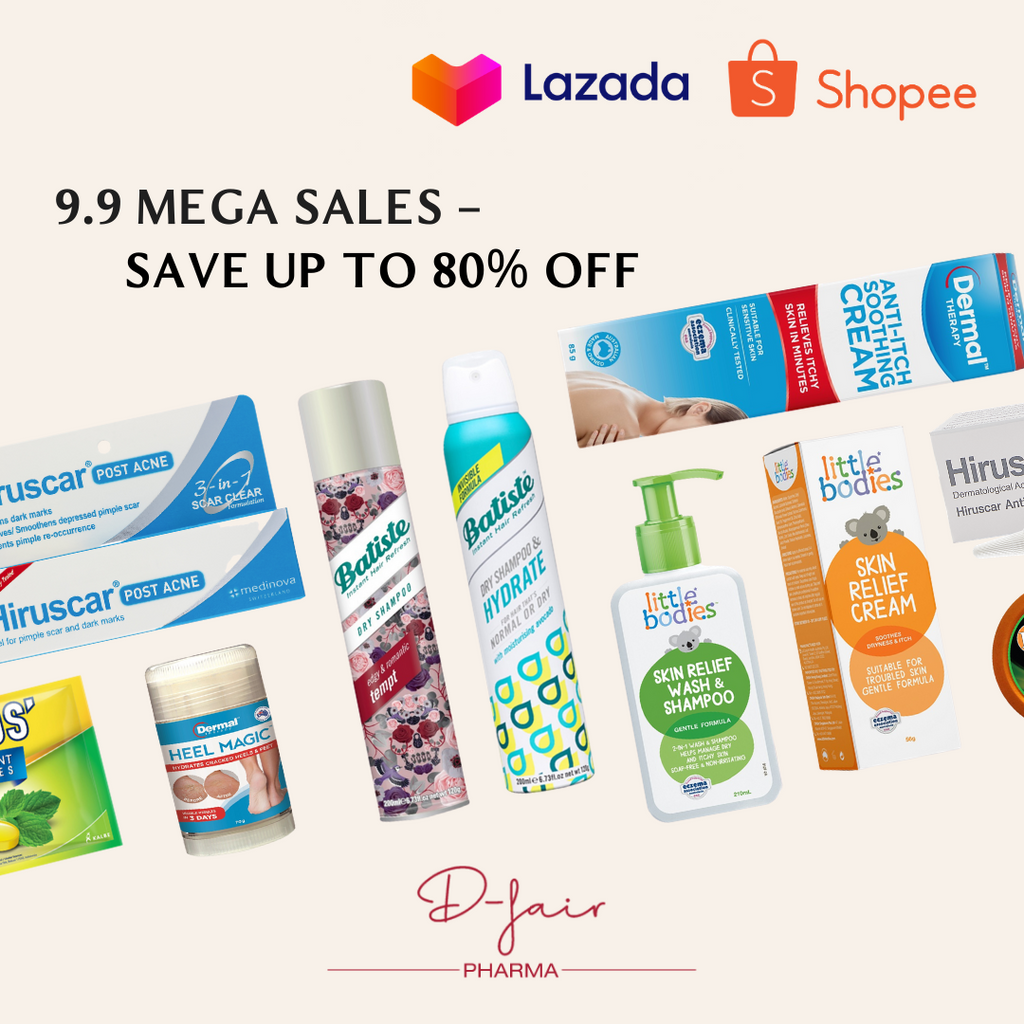 D-fair Pharma 9.9 Mega Sales: Enjoy exclusive offers from Batiste, Hiruscar, Dermal Therapy and more