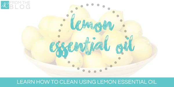 Cleaning with lemon essential oils