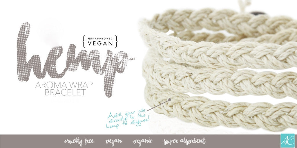 Aroma Couture Essential Oil Jewelry Vegan Hemp Diffuser Bracelet