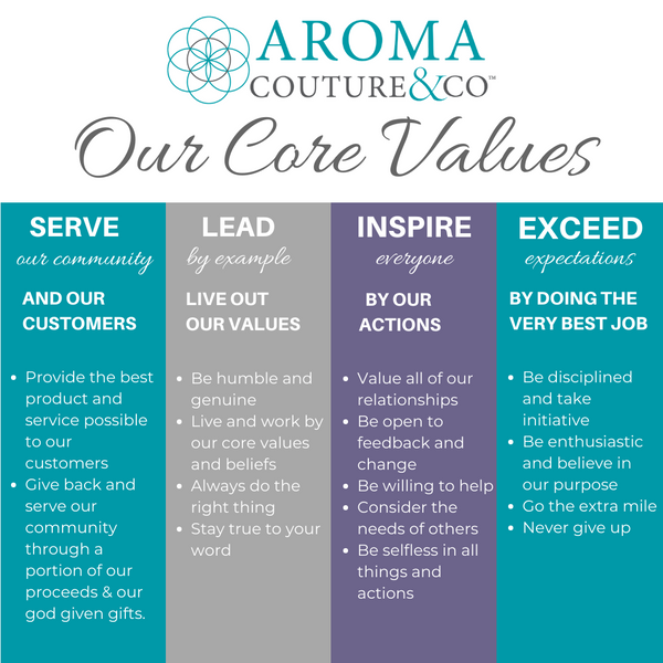 aroma couture core values
