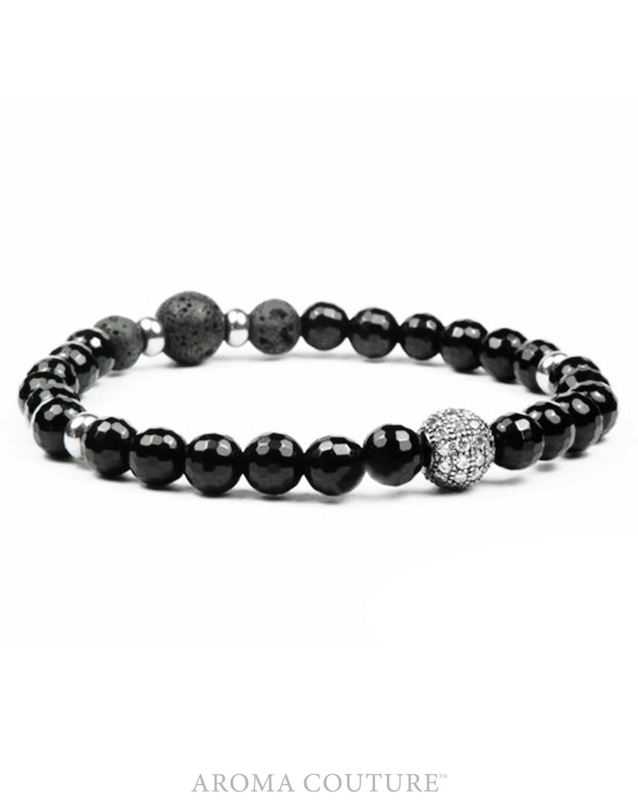 black onyx lava diffuser bracelet essential oil aromatherapy aroma couture