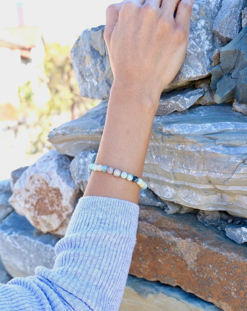 Amazonite Lava Essential Oil Diffuser Bracelet