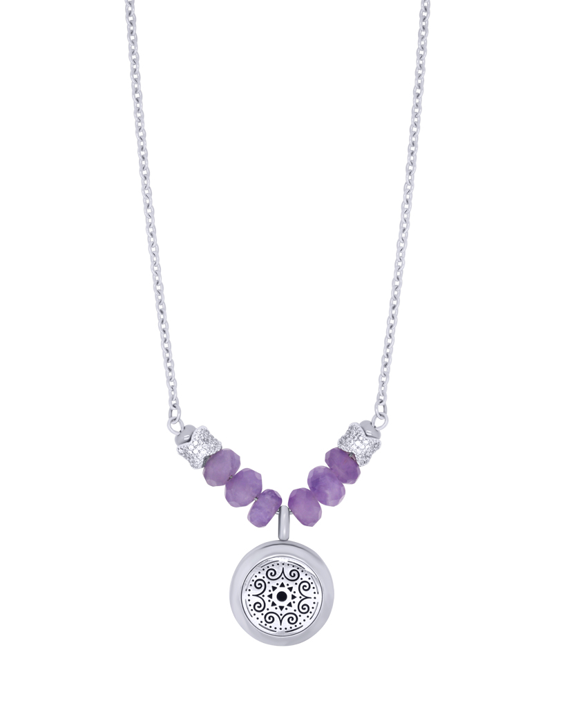 amethyst essential oil diffuser necklace aroma couture