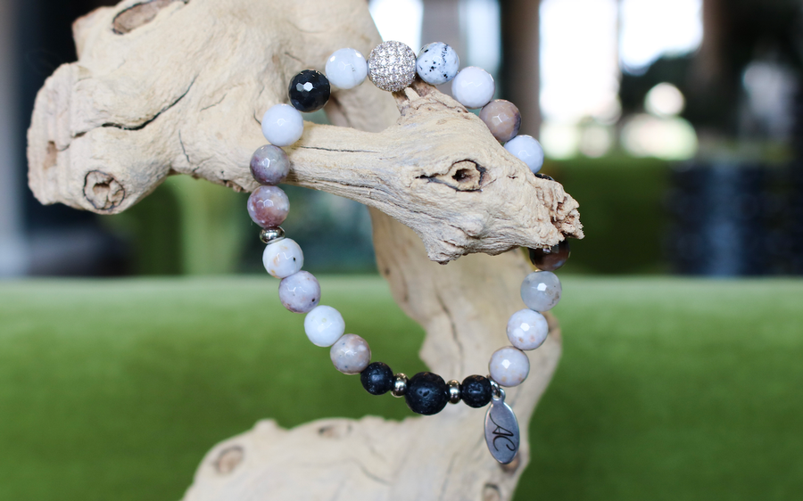 womens Agate aromatherapy diffuser bracelet