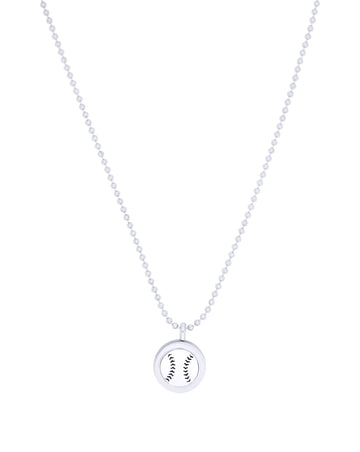 baseball diffuser necklace