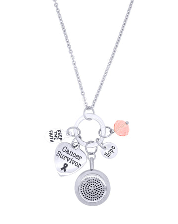 aroma couture cancer survivor diffuser necklace
