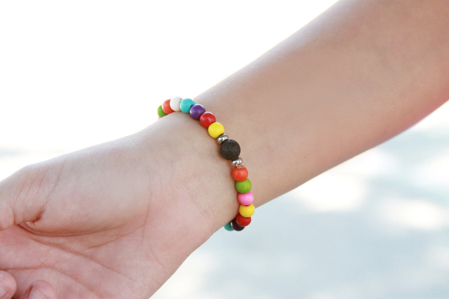 Girls Summer Essential Oil Aromatherapy Diffuser Lava Bracelet Peace