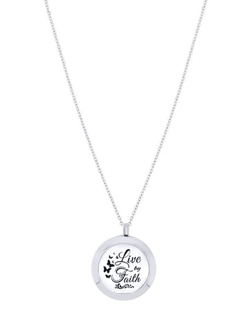 live by faith diffuser necklace