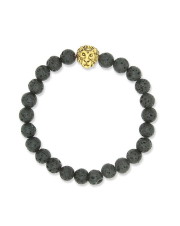 mens lion lava diffuser jewelry