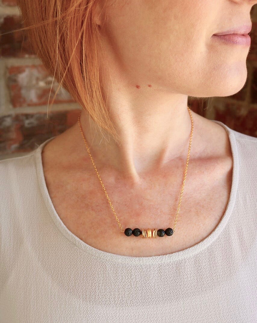 Lava Essential Oil Diffuser Necklace