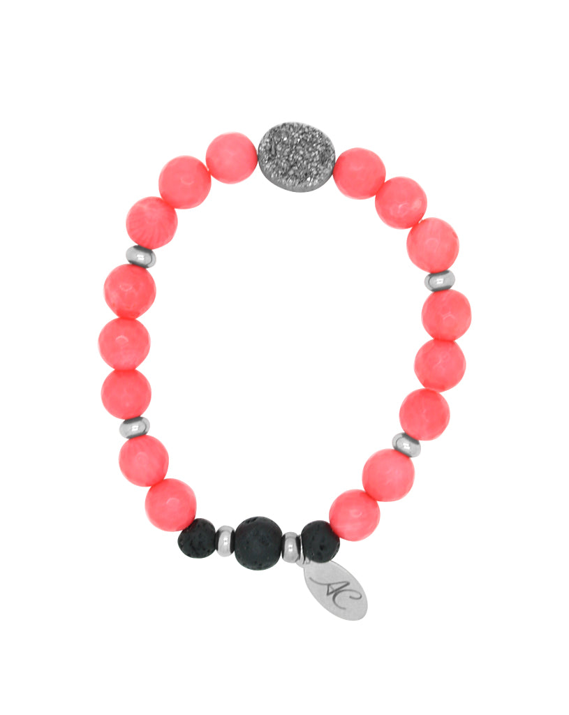 Gemstone & Lava Essential Oil Diffuser Bracelet
