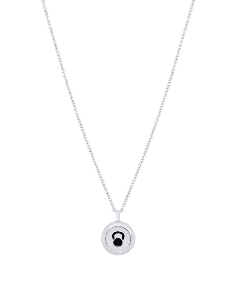kettle bell diffuser necklace