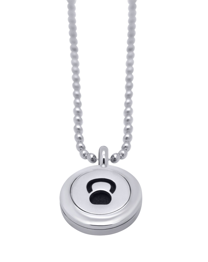 kettlebell diffuser necklace