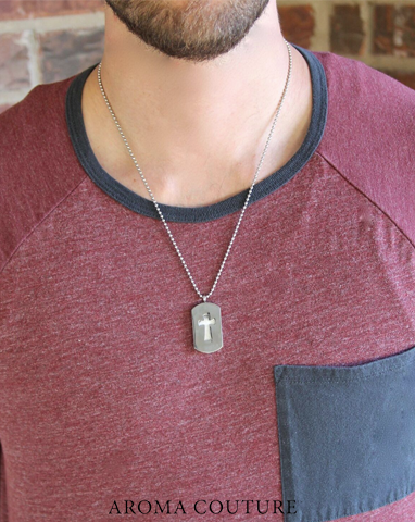 diffuser essential oil jewelry aroma couture aromatherapy mens dogtag