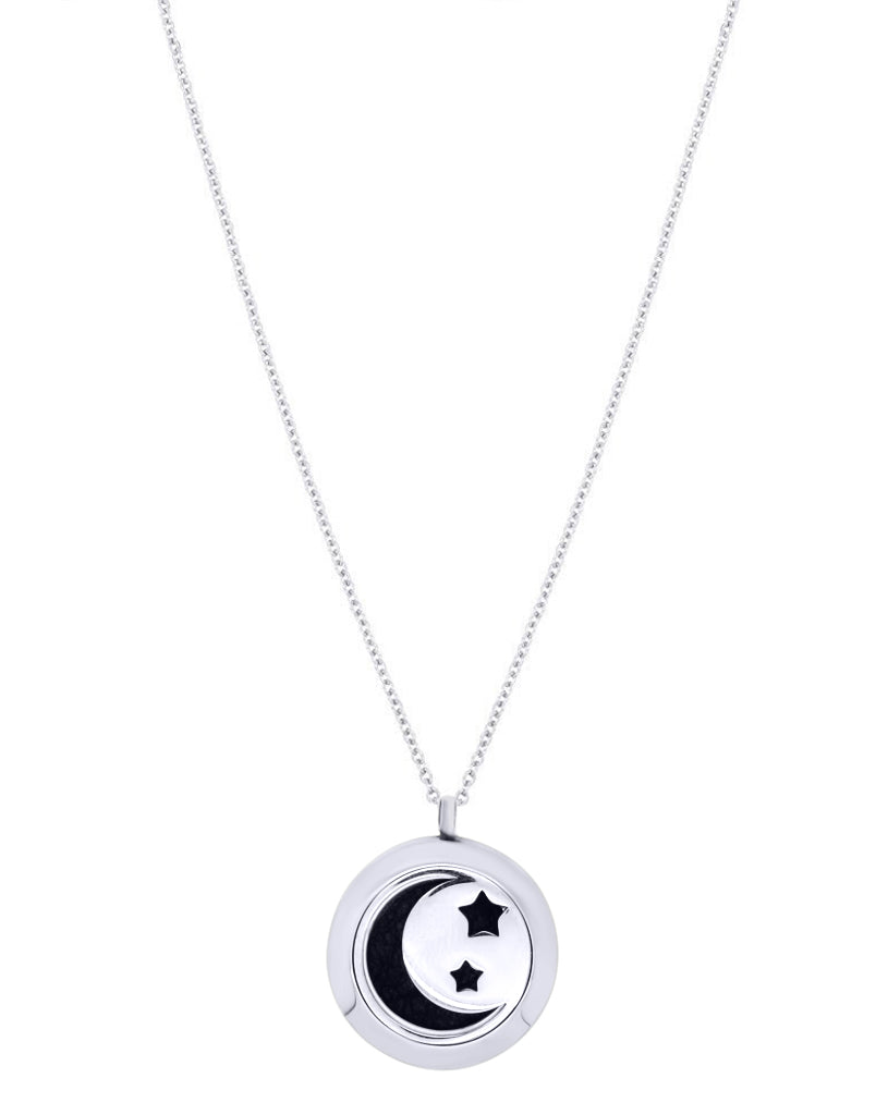 Women's Moon Aromatherapy Diffuser Necklace