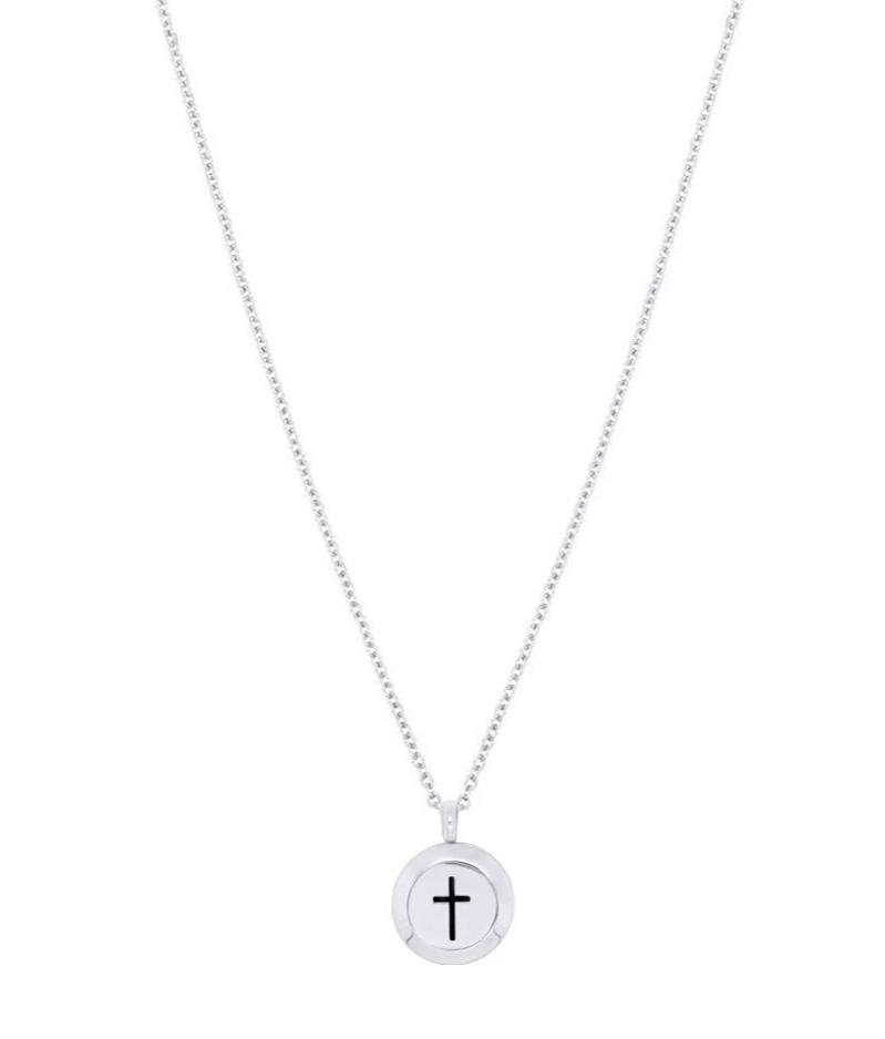 silver cross diffuser necklace